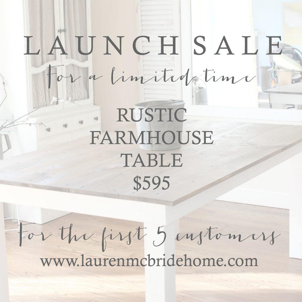 Launch Sale