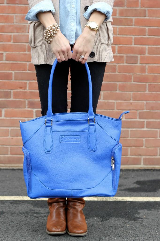 Sarah Wells Bags, Annie Bag, Dazzling Blue