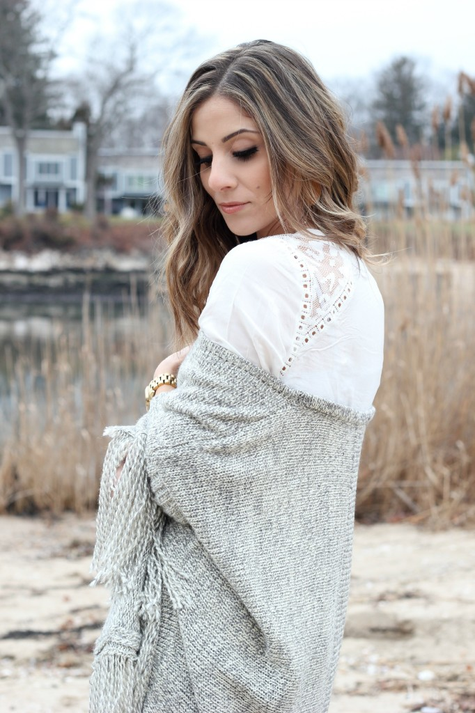 Oversized Fringe Cardigan by Lookbook Store