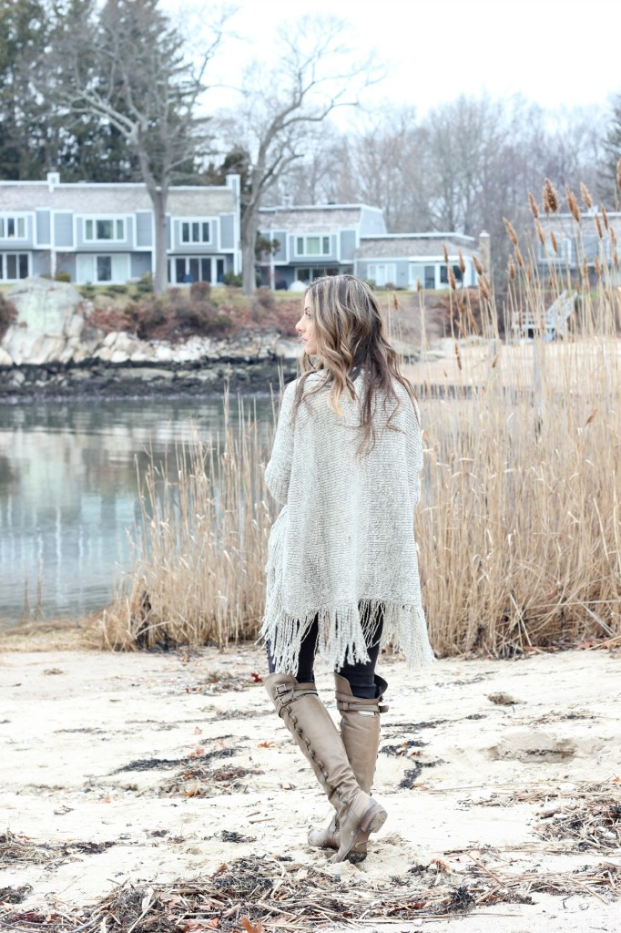 Oversized Fringe Cardigan by Lookbook Store, Sam Edelman Pierce Boot