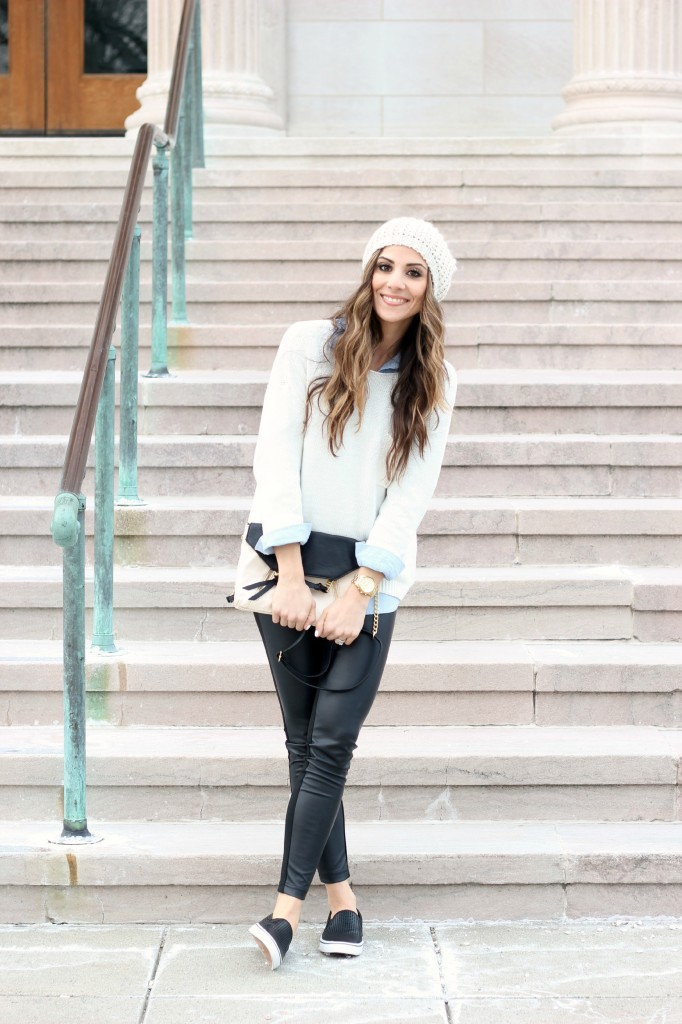 Preppy in Leather