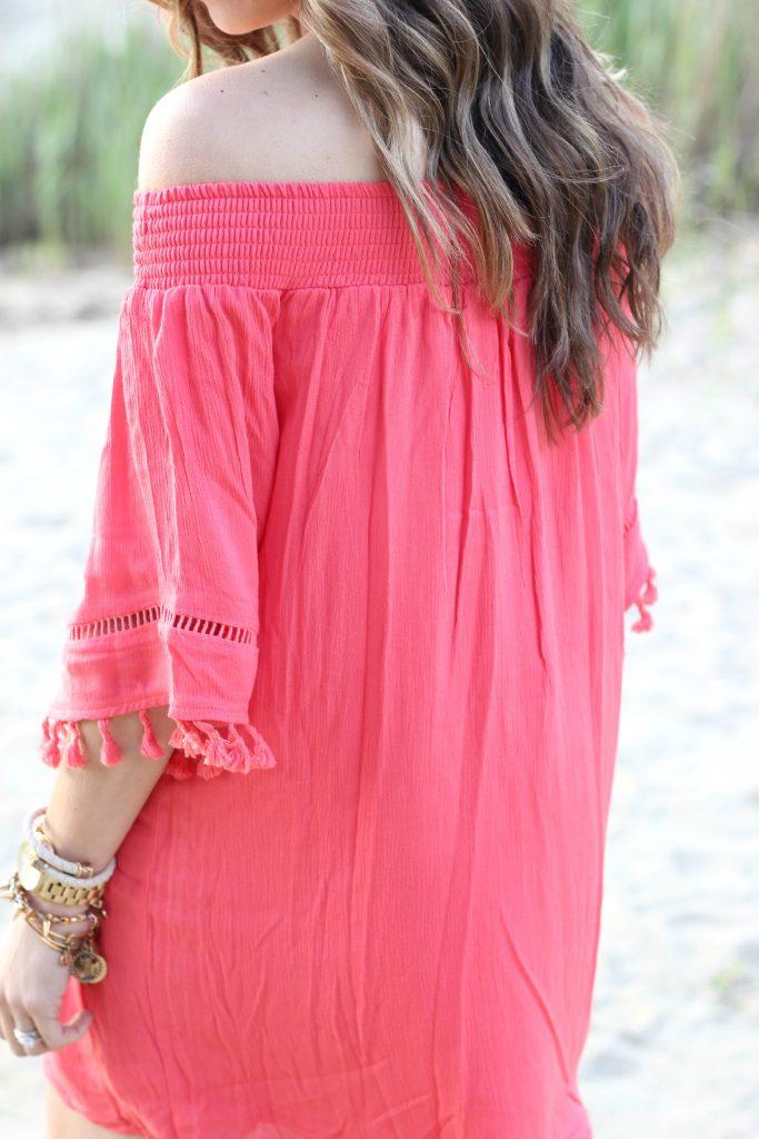 Coral Fringe Dress, Lauren McBride