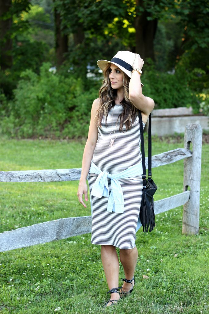 TJMaxx, Maternity Style, Striped Dress