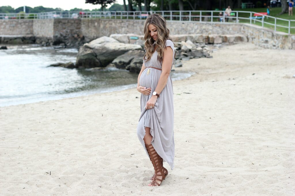 Free People Always Dreamin Dress, MIA Glitterati, Bohemian Maternity Style