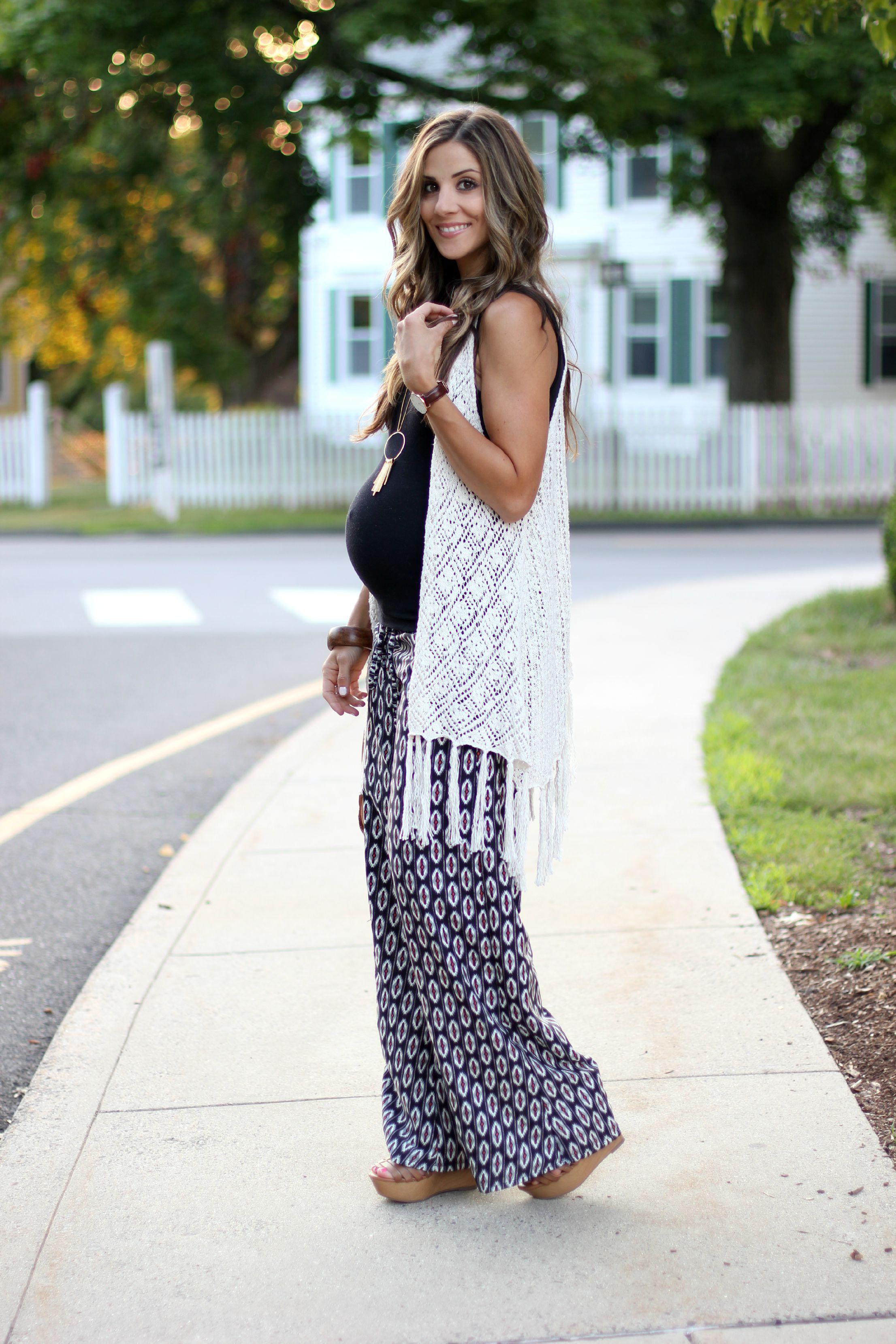 1a558066c527 Printed Pants and Crochet Fringe - Lauren McBride