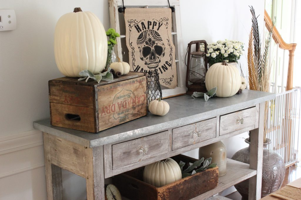 Rustic Halloween Dining Table Decor with World Market - Lauren McBride