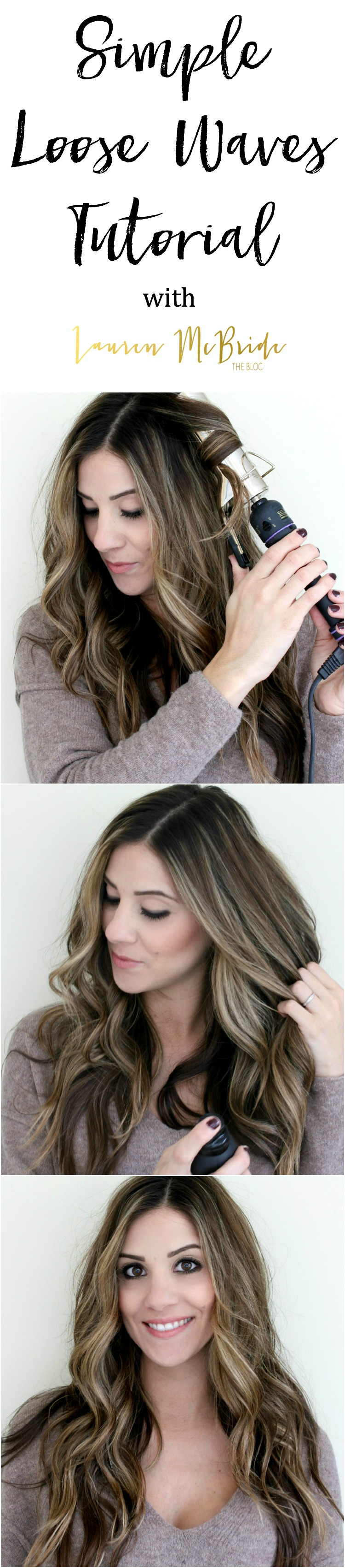 Bookmark this! Mom Hair: Easy Simple Loose Waves Tutorial which will have you finished your hair in no time at all!