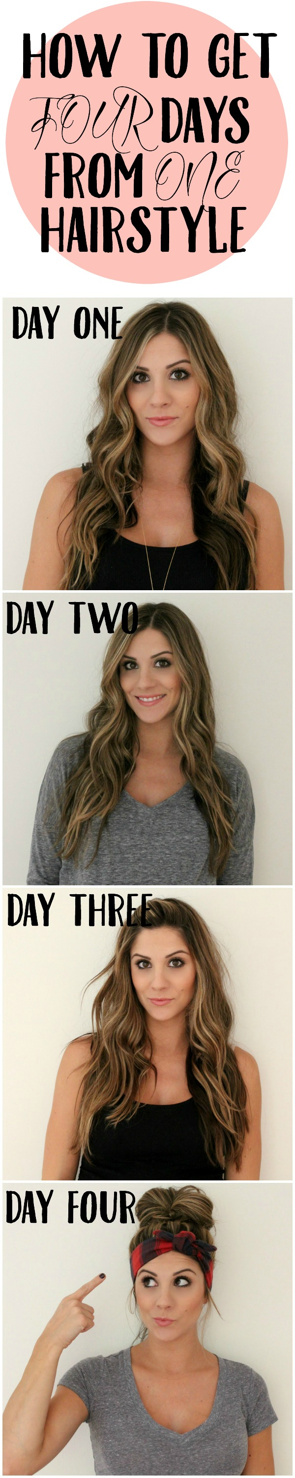 How to get four days from one hairstyle