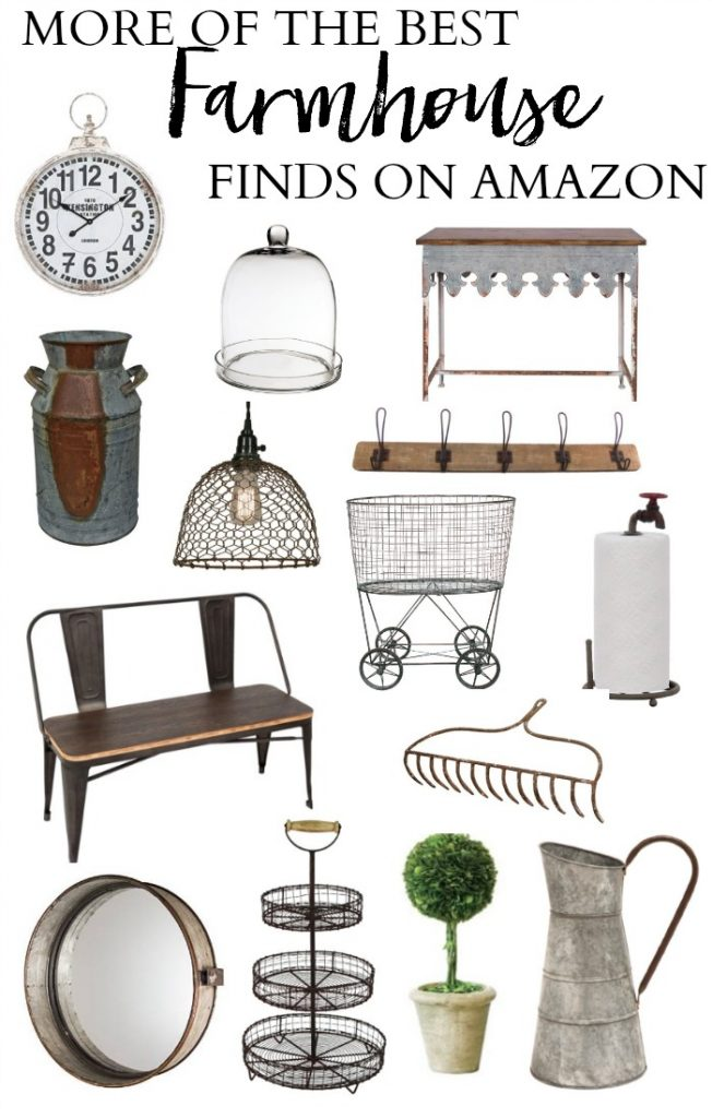 Bookmark this! More of the best Farmhouse Finds on Amazon, this round-up has a curated collection of everything you need for your farmhouse decor!