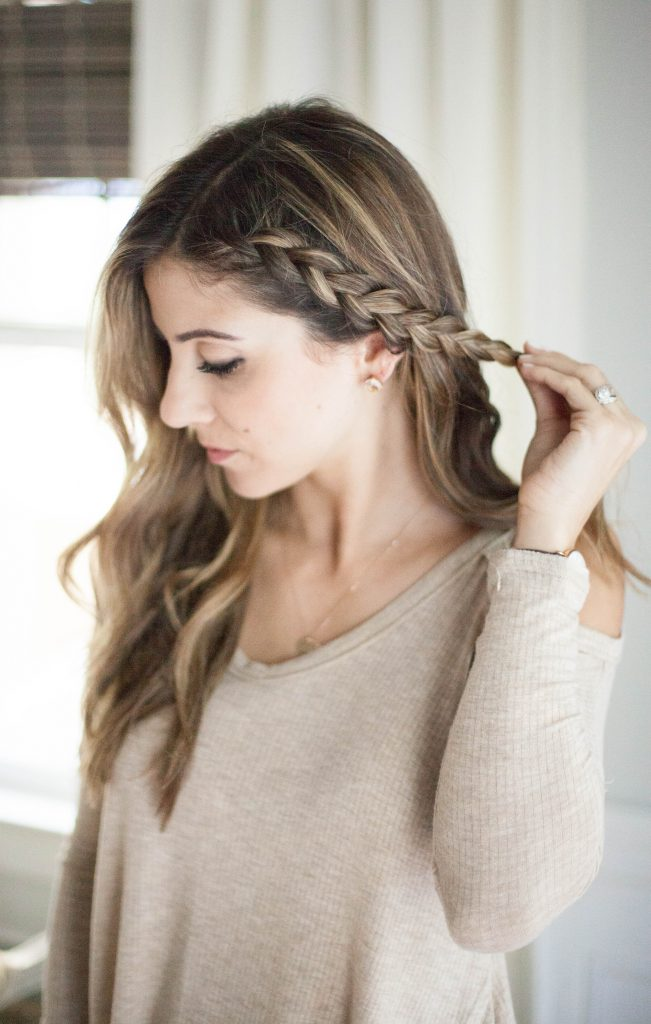A simple half up side braid hair tutorial perfect for adding a little elegance to your normal hair style!