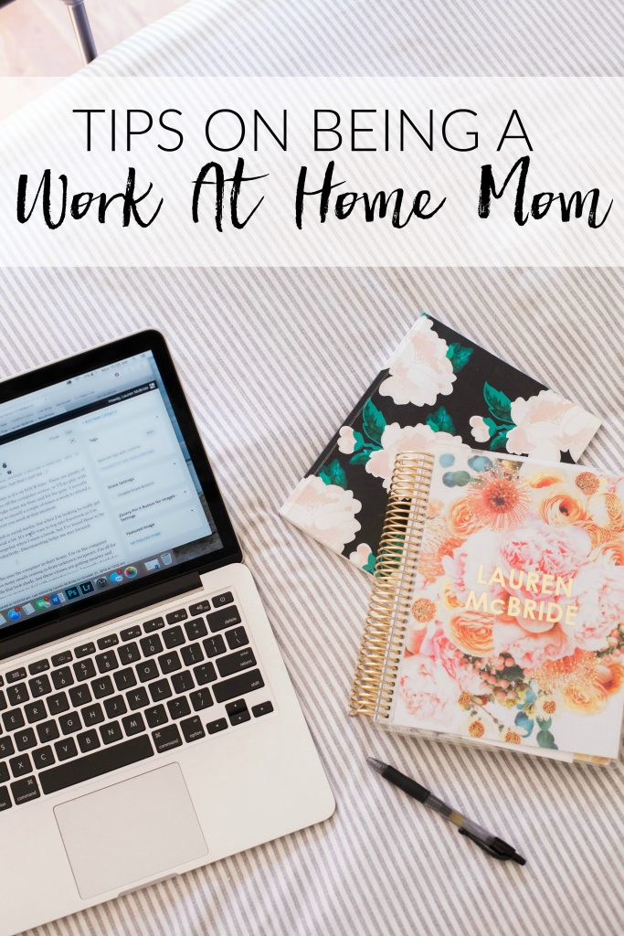Work at home mom tips and how to handle the balance of present with your children all while being productive at the same time.