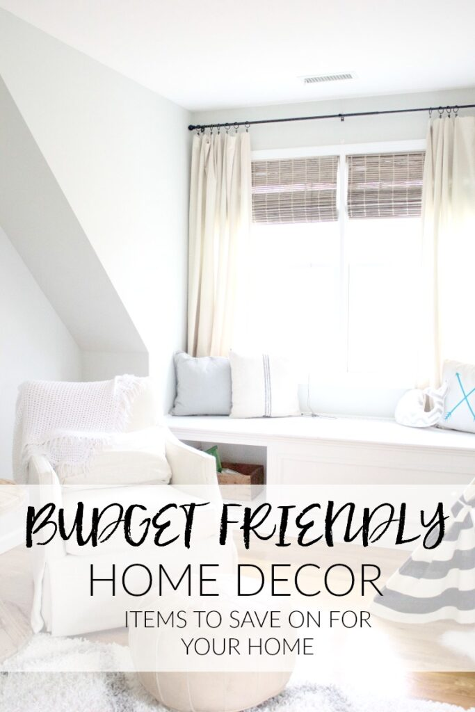 The best budget friendly home decor options and where to save on items for your home.