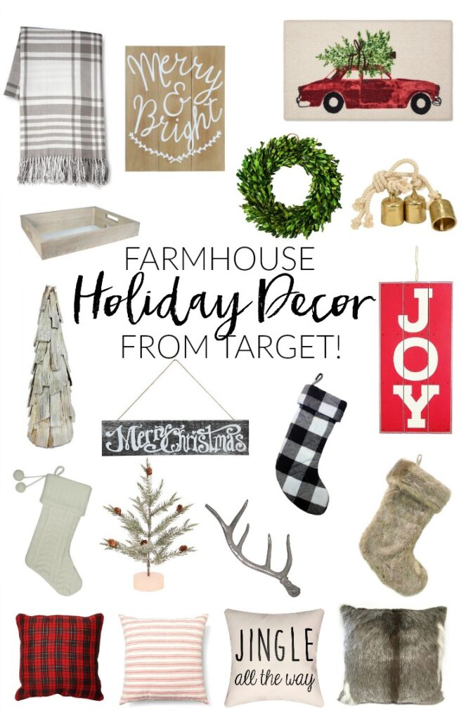 The best Farmhouse Holiday decor picks from Target to help you have a very merry Christmas!