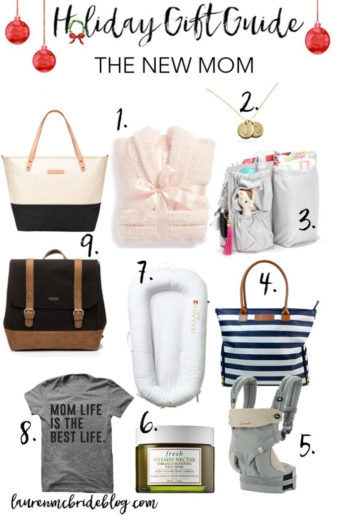 A holiday gift guide for the new mom who might need a little pampering for the holidays!