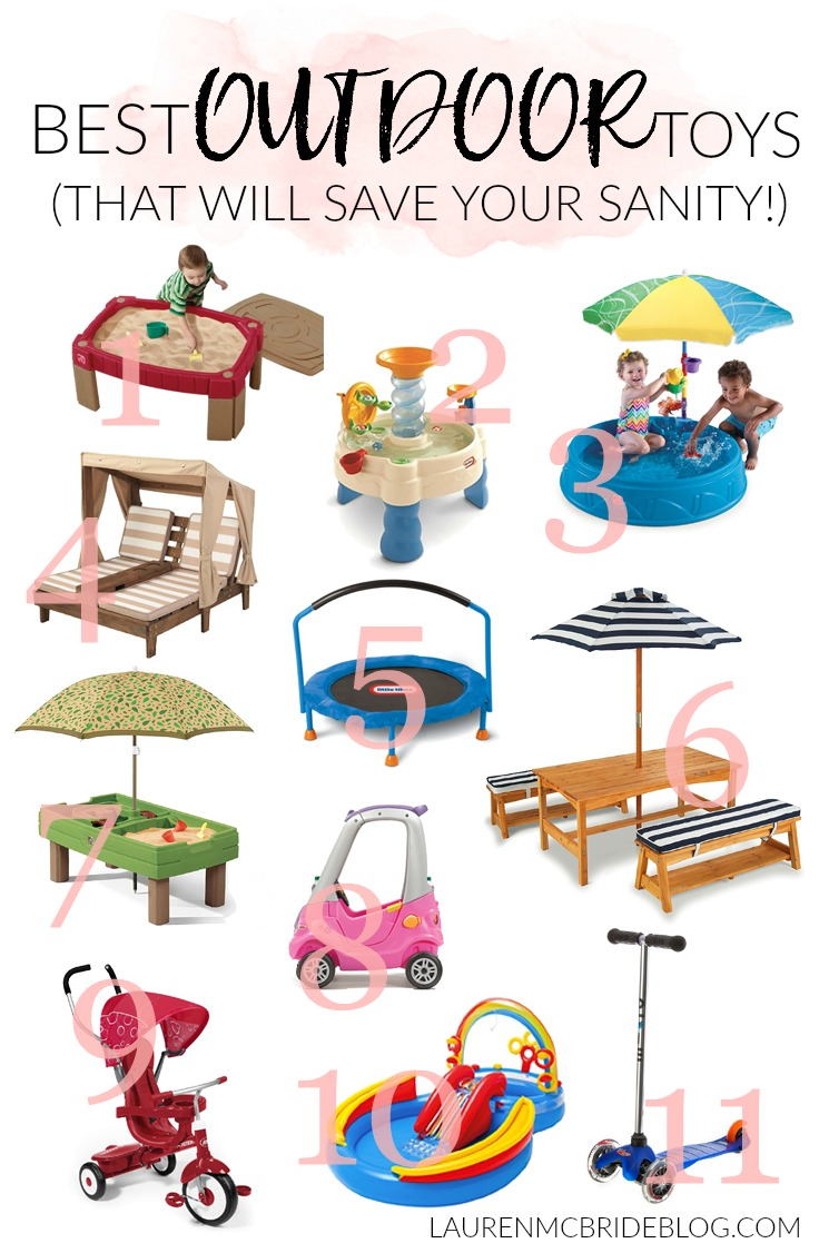Looking to keep your kids occupied outside this summer? Check out the Best Outdoor Toys that help with gross and fine motor skills, and will save your sanity!, all summer long!