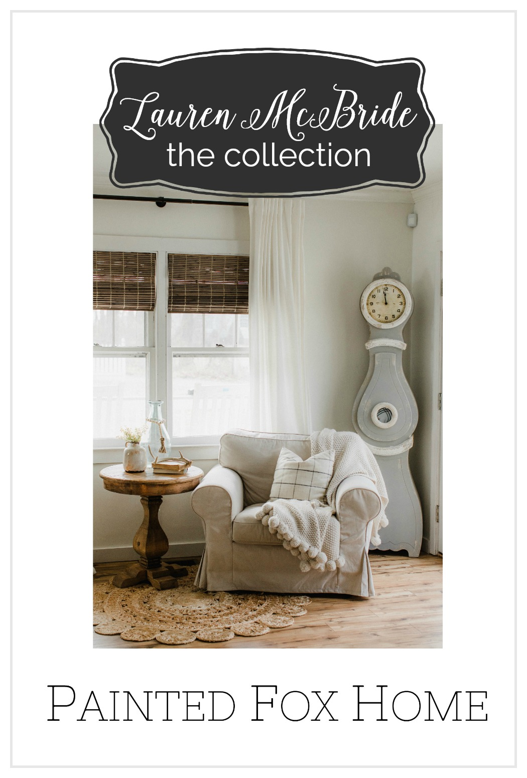 Life and style blogger Lauren McBride teams up with Painted Fox Home for the Lauren McBride curated collection, available today!