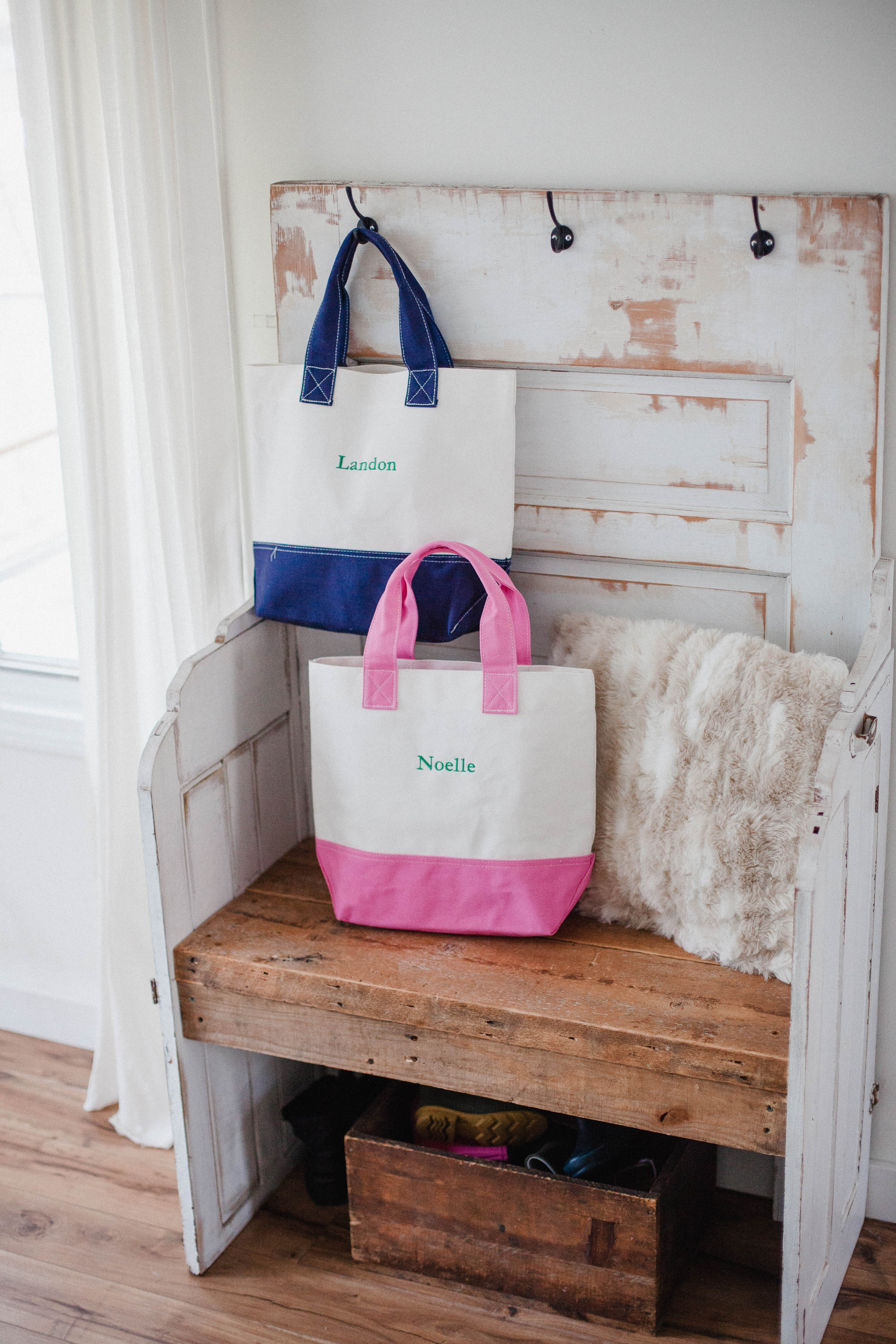 Life and style blogger Lauren McBride shares her tips on How to Help Your Child Transition to a New Baby, including fun big brother/sister bags!