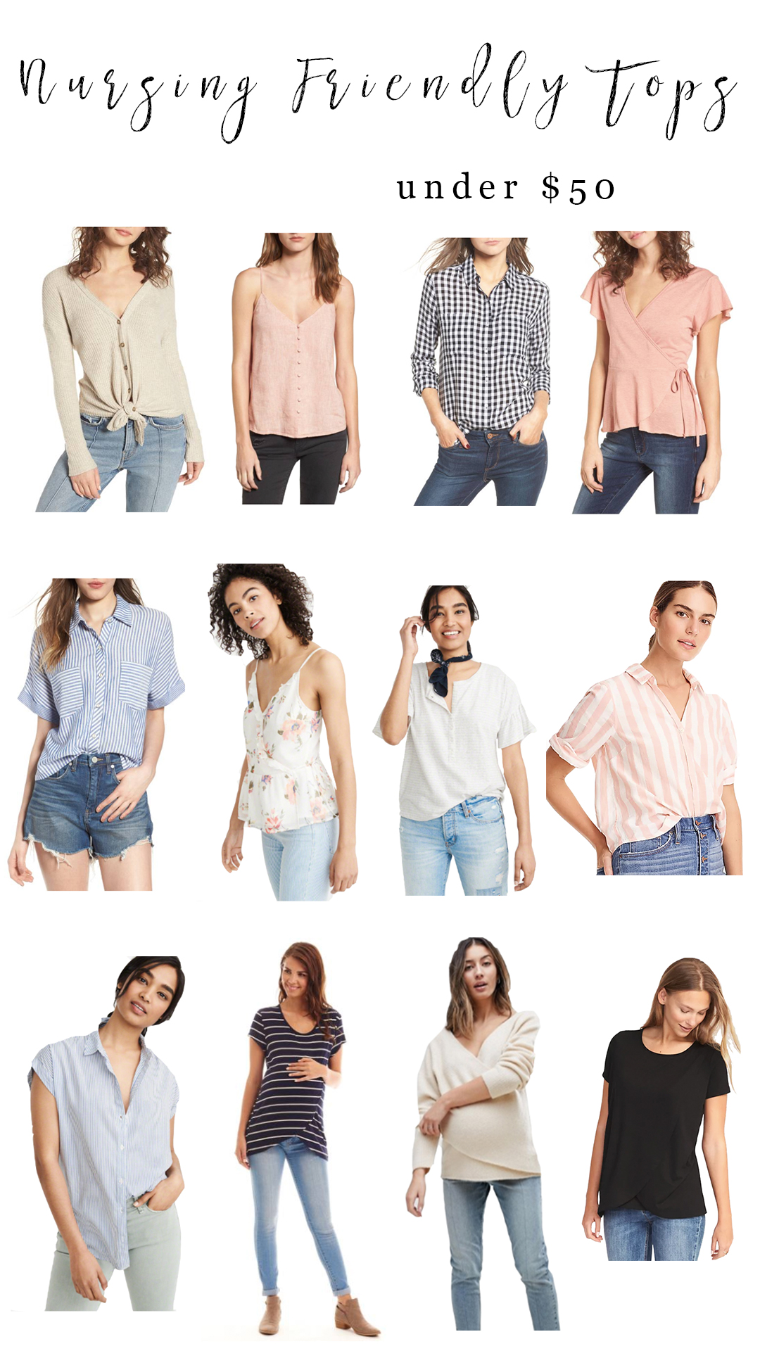 Life and style blogger Lauren McBride shares Nursing Friendly Tops Under $50 that make breastfeeding and pumping more accessible for moms.
