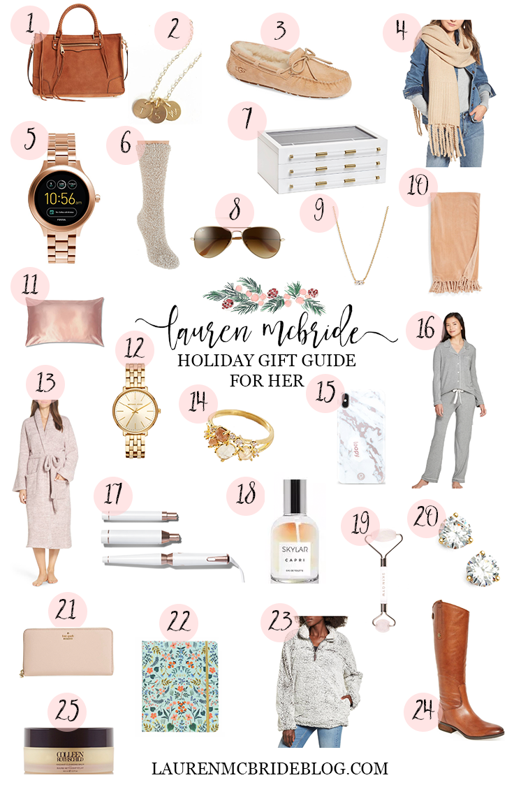 Connecticut life and style blogger Lauren McBride shares a beauty gift guide for her, including a wide variety of options and price ranges.