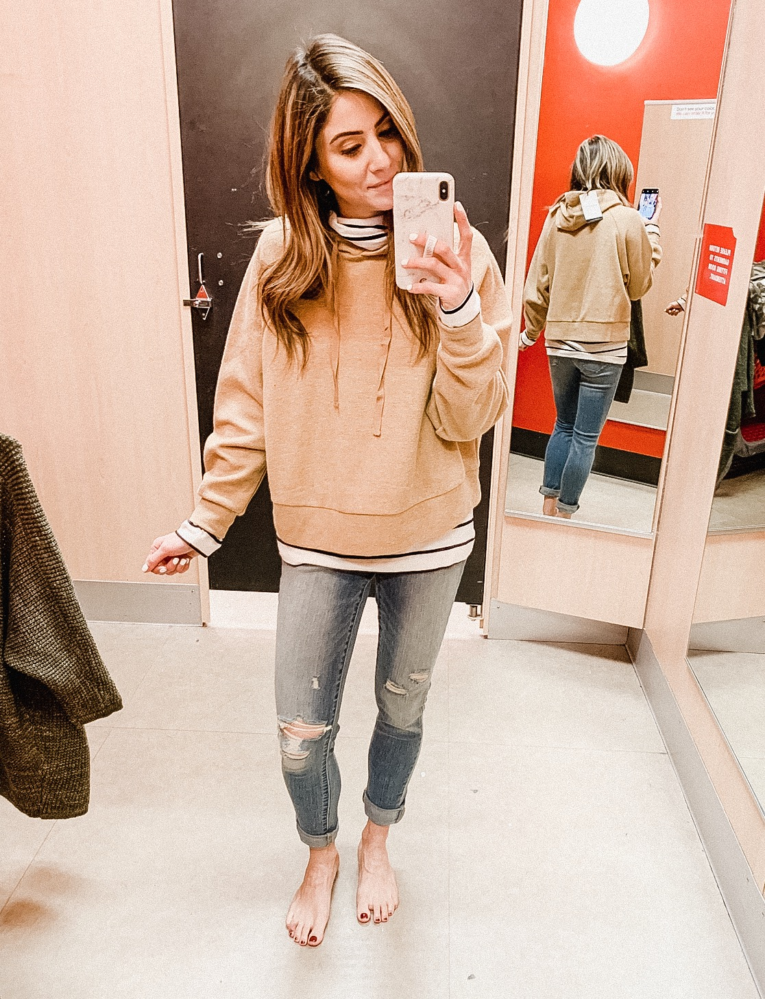 Connecticut life and style blogger Lauren McBride shares a January Target try on featuring outfits and home decor.