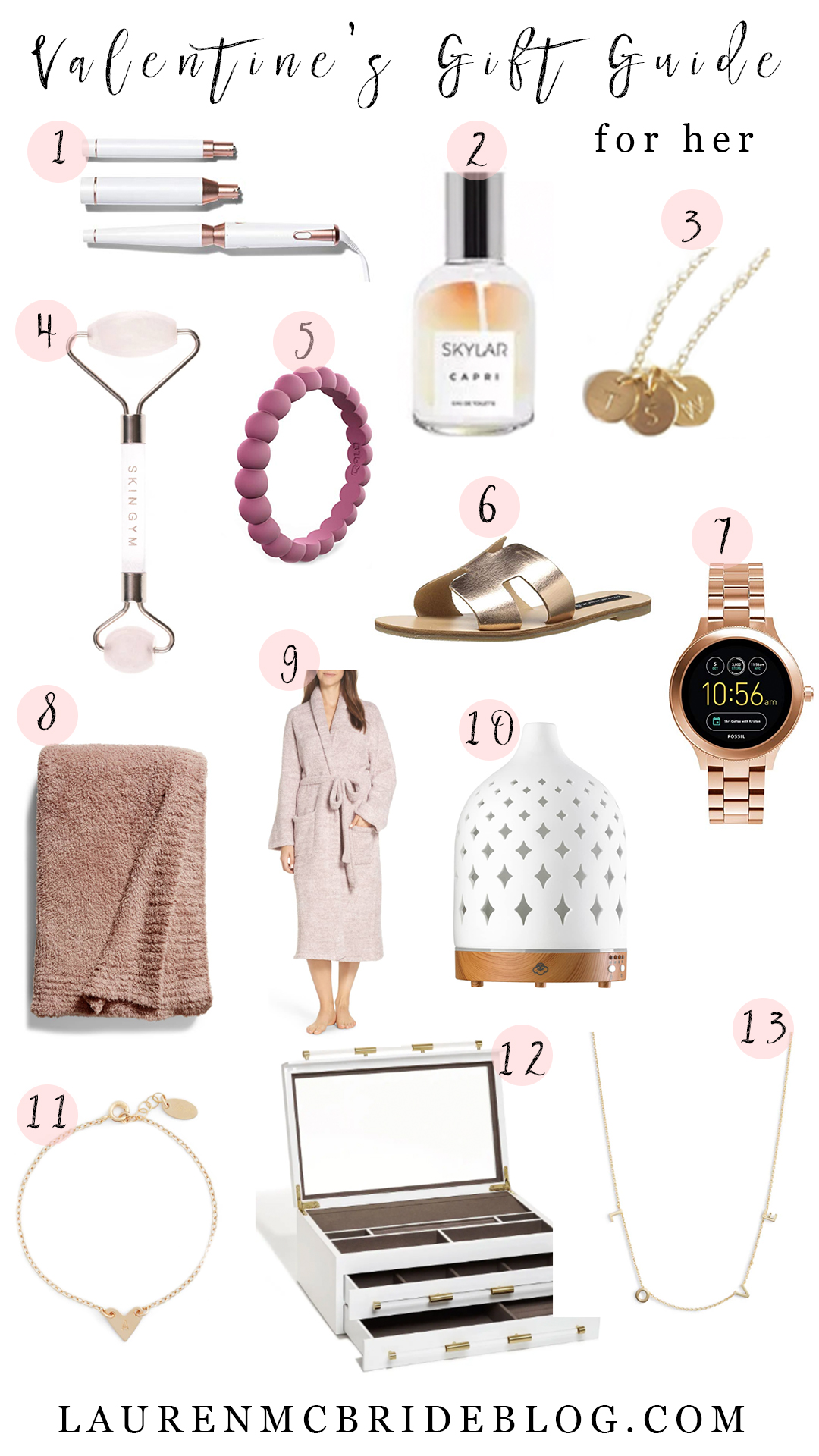 Connecticut life and style blogger Lauren McBride shares a Valentine's Day gift guide for her including a variety of items and price points.