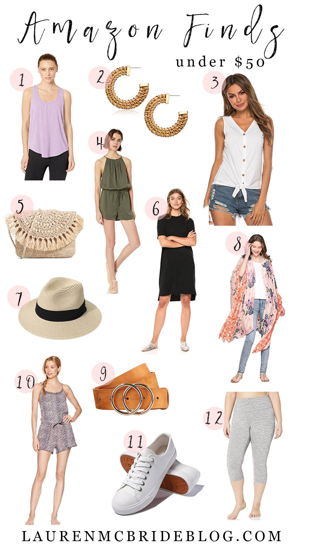 Connecticut life and style blogger Lauren McBride shares her June Amazon Finds Under $50 featuring summer essentials and workout finds.