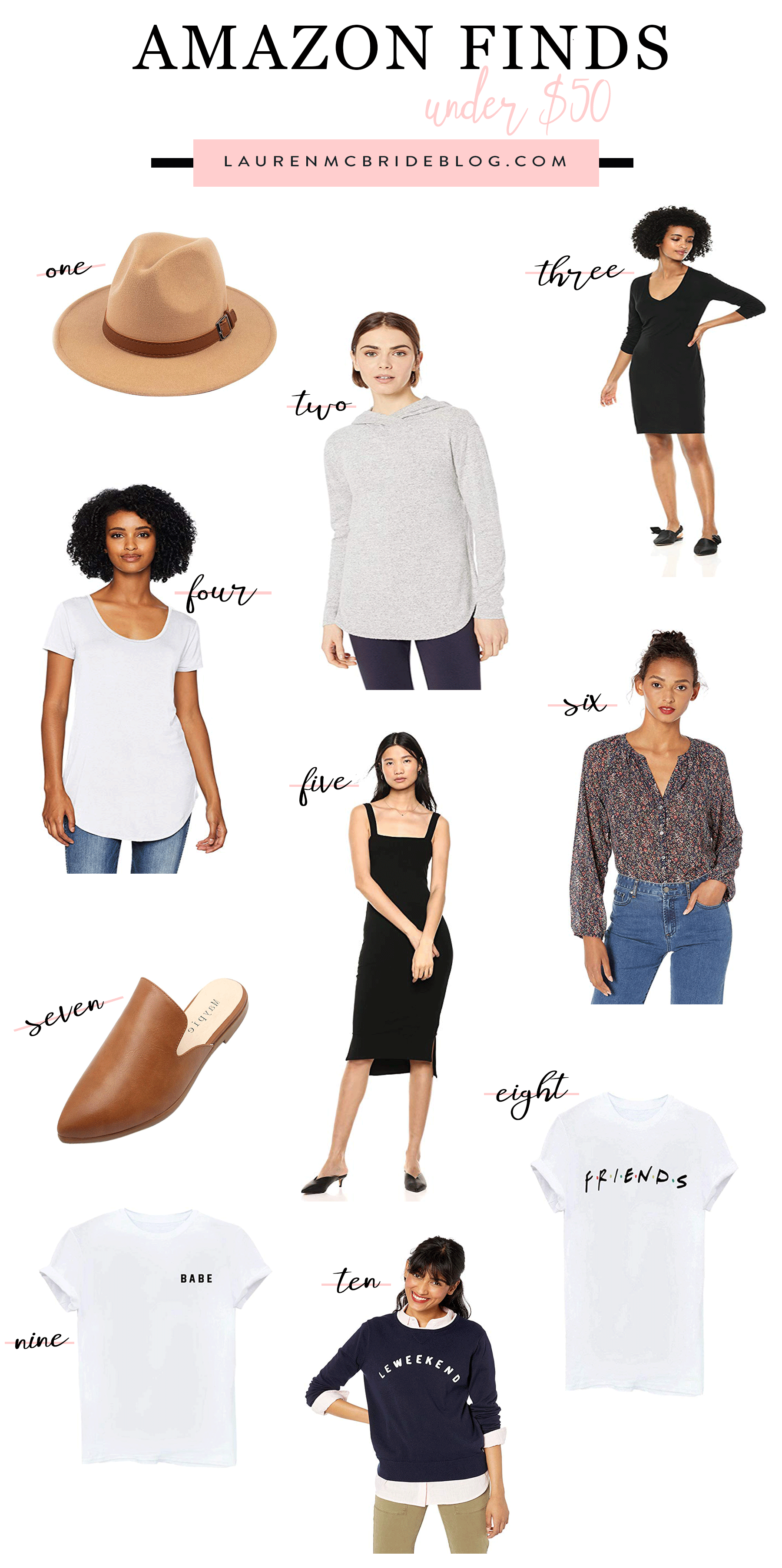 Connecticut life and style blogger Lauren McBride shares her September Amazon Finds Under $50 including some fall transitional pieces.