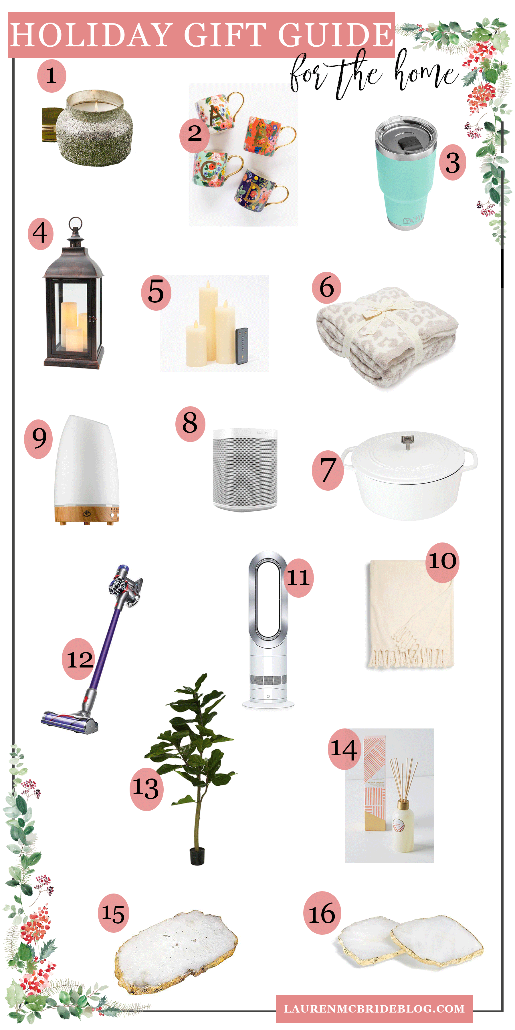 Looking for the best holiday gifts for the home? Connecticut Lifestyle Blogger Lauren McBride is sharing the best holiday gifts for the home. Click to see them HERE!