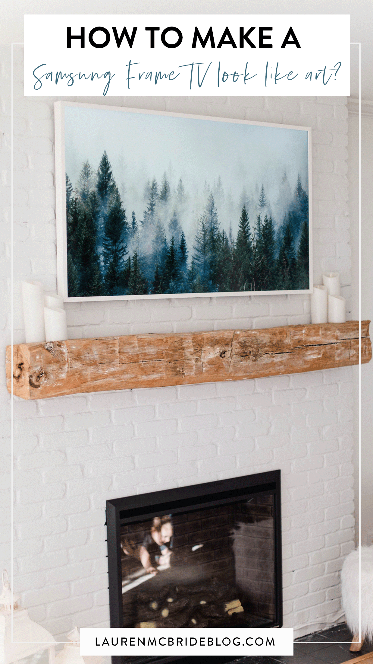 Not sure how to utilize your Samsung Frame TV as more than just a TV? Connecticut lifestyle blogger Lauren McBride is sharing how to make your Samsung Frame TV look like a piece of artwork. See how HERE!