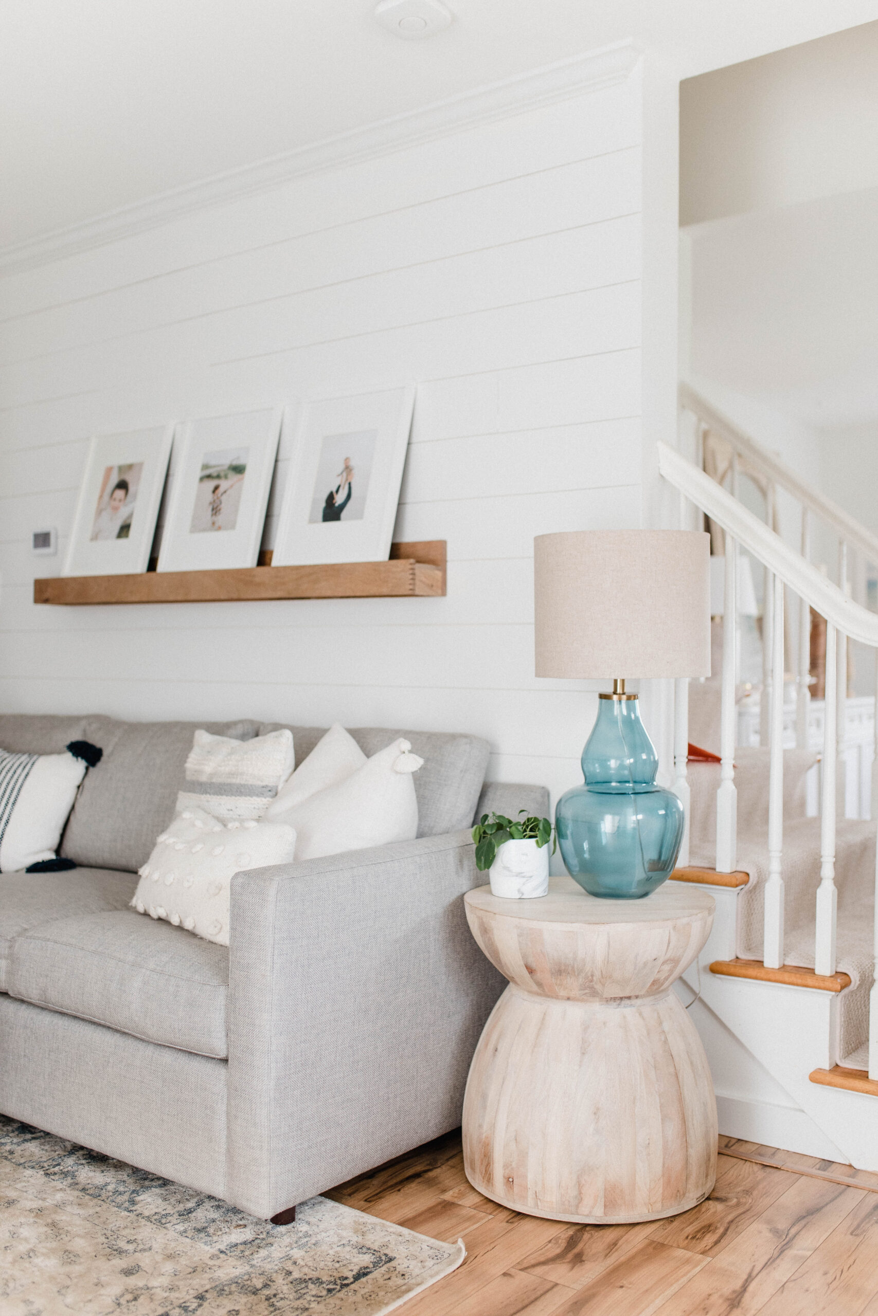 Connecticut life and style blogger Lauren McBride shares a home tour of her East Coast casual living room space, complete with source list.