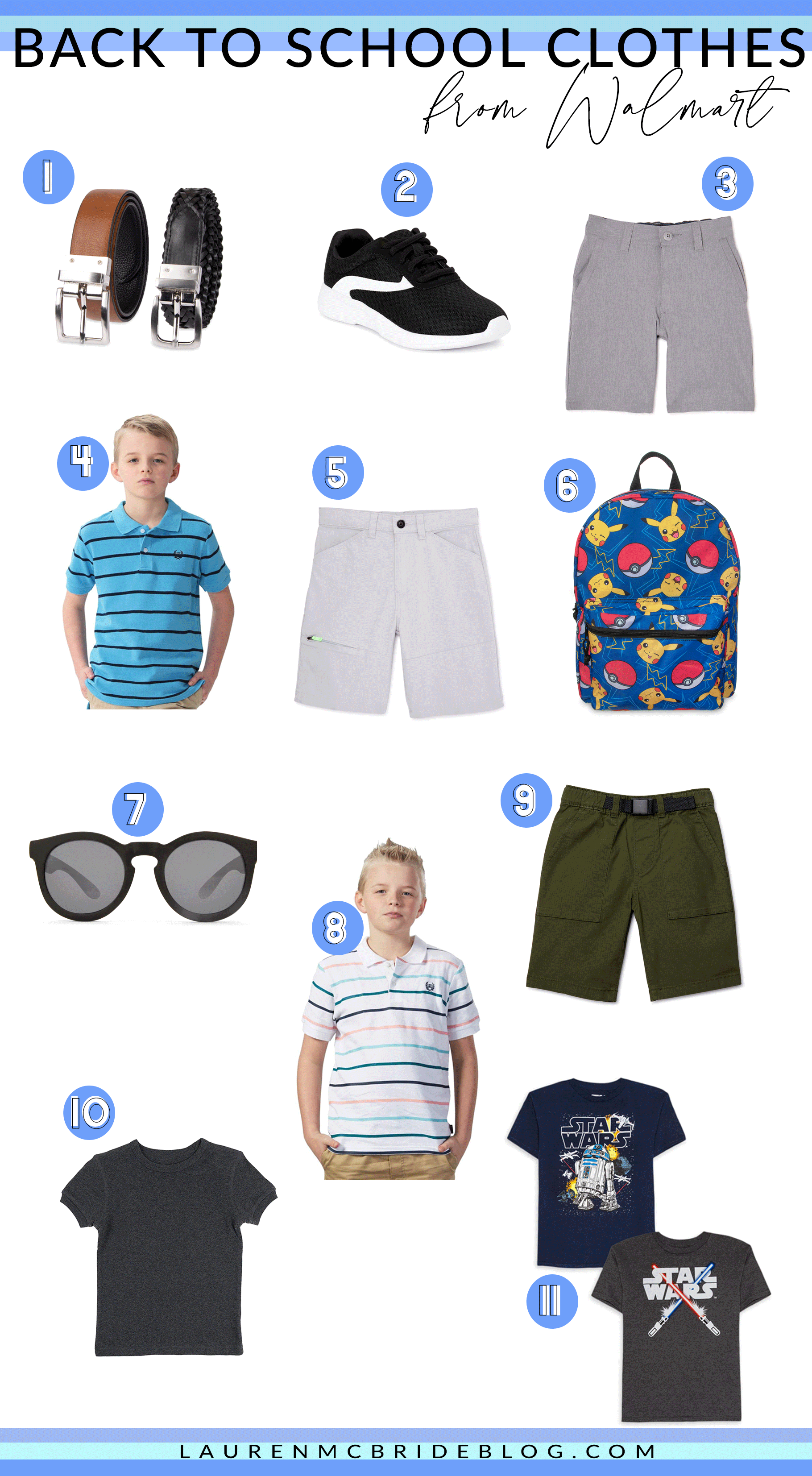 Gearing up to head back to school? Connecticut Lifestyle Blogger Lauren McBride is sharing her favorite back to school clothes for boys and girls from Walmart HERE!