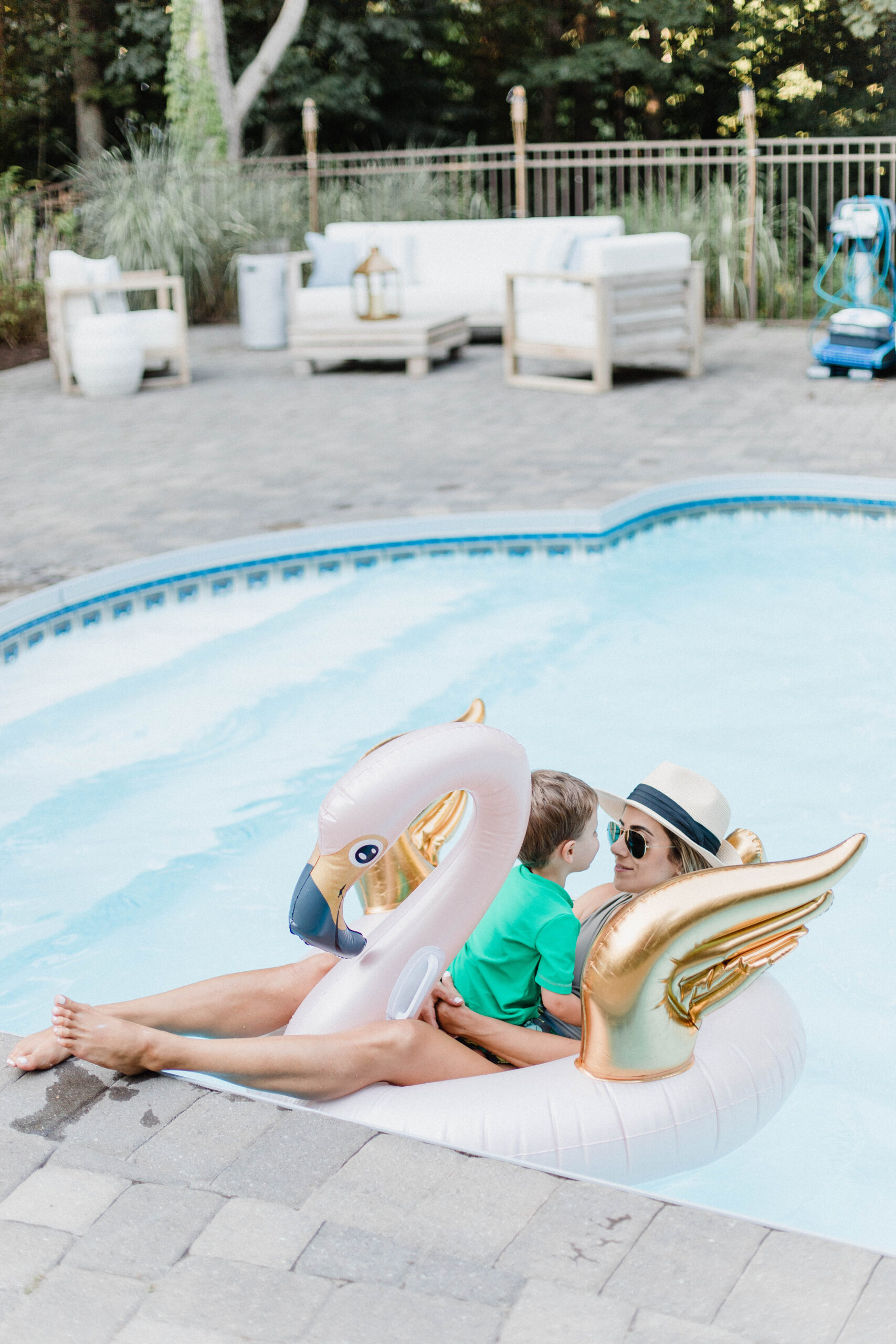Connecticut life and style blogger Lauren McBride shares a variety of floats and activities for the pool available now on QVC.