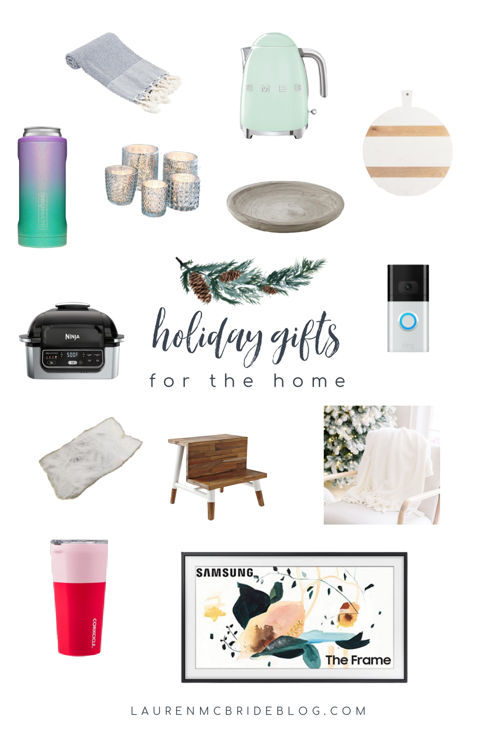 Connecticut life and style blogger Lauren McBride shares holiday home gifts for the 2020 holiday season.
